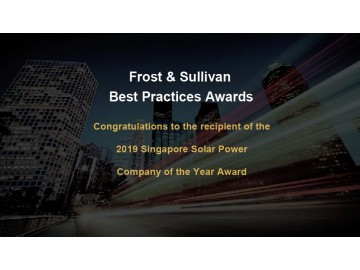 SolarGy Pte Ltd has earned the 2019 Singapore Solar Power Company of the Year Award by Frost & Sullivan