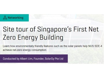 Site tour of Singapore's First Net Zero Energy Building