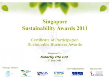 SolarGy participates in Singapore Sustainability Awards 2011.