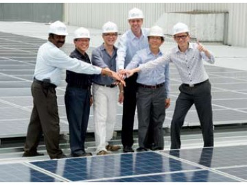 SolarGy joins K-Green Trust to cheer the completion of their 1 MW project