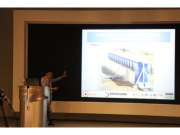 SolarGy's Managing Director giving a speech at the Solar Technology Seminar and participating at the panel discussion