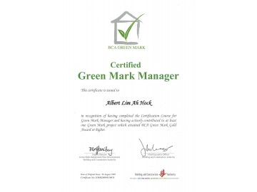 SolarGy's Managing Director obtained certification as Green Mark Manager.